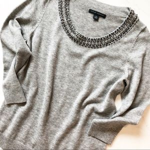 Banana Republic sweater with beaded collar